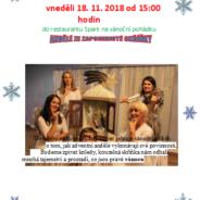 Vánoční pohádka: Andělé ze zapomenuté skříňky v neděli 18.11.