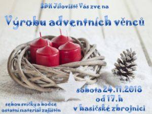 Výroba adventních věnců 24.11.2018