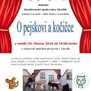 Pozvánka na divadlo O pejskovi a kočičce