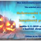 Halloweenské tvoření a lampiónový průvod