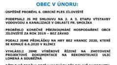 OBEC V ÚNORU 2020