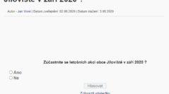 Anketa – Zúčastníte se letošních akcí obce Jíloviště v září 2020 ?