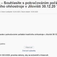 Anketa – Souhlasíte s pokračováním pořádání tradičního ohňostroje v Jílovišti 30.12.20 ?