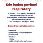 [PKR-KUSK] Informační leták hejtmanky – kde budou povinné respirátory