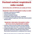 Informační leták hejtmanky – povinné nošení respirátorů nebo roušek
